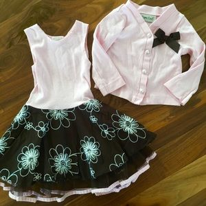 Other - Girls 2T Dress and Sweater